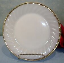 Anchor Hocking Fire King Golden/22K Anniversary Swirl Luncheon Plates 7 3/4""