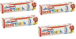 4x Aquafresh Little Teeth Toothpaste 3-5 Years 50ml