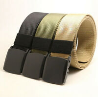 Men's Military Tactical Nylon Waistband Fashion Canvas Web Buckle Belt Sports
