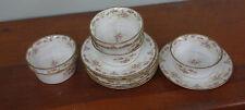 Elite Works Limoges Bawo & Dotter #459 Ramekins With Saucers Rose & Gold Border