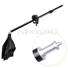 Photography Studio Light Stand Telescopic Boom Arm w/ Sandbag Grip For 75-135cm