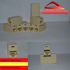 3x Alargador prolongador empalme para cable Rj45 cat5 cat6 hembra ethernet