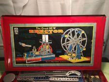 The Great New Erector, Refrigerator Plant 9 1/2 Set &Ferris Wheel,WORKING MOTOR!