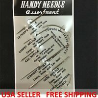 7Pcs/Pack Hand Repair Upholstery Sewing Needles Carpet Leather Curved Canvas New