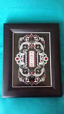 "Melissa Subitch L'Chaim (""To Life"") framed card w/ Swarovski Crystals"