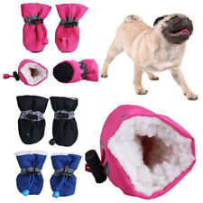 1 Pair Pet Windproof Warm Shoes Winter Anti-slip Boots Socks for Small Puppy Dog