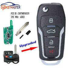 Upgraded Flip Remote Key 315MHz 4D63 for Ford Lincoln Mercury -FCC:CWTWB1U331