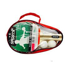 SPORTX Tischtennis-Schläger, Set mit 2 Schlägern und 2 Bällen, für Einsteiger