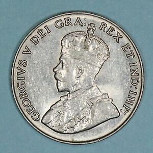 1929 Canada 5 Cents coin, AU, KM# 29
