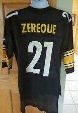 VINTAGE PITTSBURGH Steelers Amos Zereoue Mens LARGE Reebok ON FIELD BLACK JERSEY
