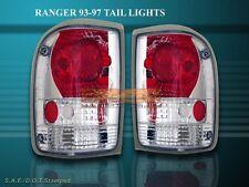 1993-1997 FORD RANGER TAIL LIGHTS CHROME 1994 1995 1996 NEW