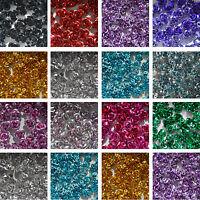 Aluminium Metal Rose Flower Beads 100/6mm or 50/12mm - CHOOSE COLOUR & SIZE