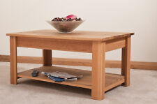 OAK COFFEE TABLE WITH 1 SHELF | HANDMADE TO ORDER