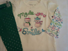GARANIMALS Baby Girls 12 Month Legging Pant FADED GLORY Top Shirt Outfit NWT
