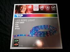 4m LED Lichtschlauch / Lichterkette multicolor bunt Party Disco 12W rope light