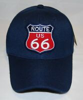 Route 66 Baseball Caps Embroidered /& Printed Gifts 7508CHN  Z Black Color