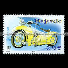 ★ MAJESTIC 350 1929 Georges ROY ★ (France) Timbre Moto Motorcycle Stamp #10