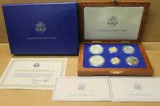 1986 Statue Of Liberty Six Coin Gold + Silver Set With COA and Packaging