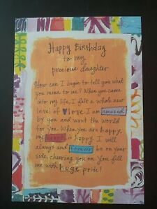 Birthday card to Daughter