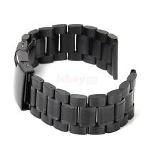 NEW Straight End Mens Solid Link Stainless Steel Metal Watch Band Bracelet 24mm