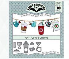 KB Riley- Karen Burniston Cutting Die Set ~ COFFEE CHARMS 3D Card Making ~1041