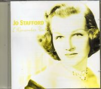 Jo Stafford - I Remember You (2002 CD) New