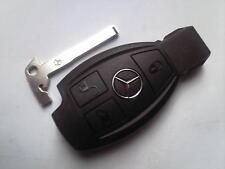 Genuine Mercedes Benz Classe E S C SLK Coup VITO ecc 3 pulsanti remota non tagliata portachiavi