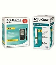 New Accu-Chek Active Blood Glucose Meter Kit Vial of 10 strips free Multicolor