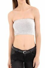 New Ladies Women Girls Boob Tube Bandeau Crop Vest Top Bra Summer Mini Shirt