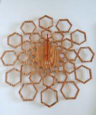 Karlsson Clock Sunshine Wall Designet Hexagon