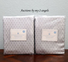 TWO Pottery Barn Kids MINI DOT LUXE JACQUARD Blackout Panels 44X84 GREY S/2 NEW