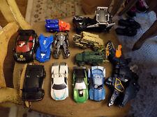 Big Lot Vtg Transformers Lot of Sport Cars Army Truck Vehicles Construction Dino