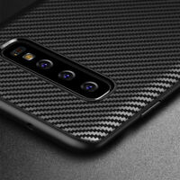Samsung Galaxy S10+ PLUS Case Carbon Fibre TPU Silicone  Best Protection Cover