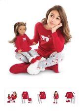 NIB ~American Girl POLAR BEAR PAJAMAS FOR GIRL (Size 4-5) AND DOLL~ in GIFT BOX