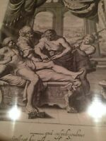 """""""Temple of the Muses"""" Diepenbeeck 1655 Original Etching Very Fine"""