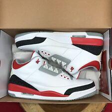 07b17a51c34a 2007 Nike Air Jordan III 3 Retro WHITE FIRE RED CEMENT GREY BLACK 136064-161