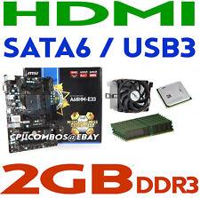 AMD A10-7700K FM2 CPU/APU+2GB DDR3 RAM+MSI A68HM-E33 SATA6 USB3 HDMI Motherboard