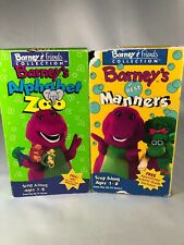 2 Barney VHS Barney's Best Manners, Barney's Alphabet Zoo Used See Pics