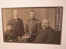Eschweiler - Frau & 3 Männer - Soldat in Uniform - Schwalbennester / CDV