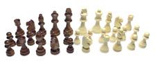 Schachfiguren Set Holz 32 Figuren weiß braun Schach natur