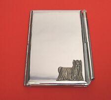 Yorkshire Terrier Dog Chrome Notebook / Card Holder & Pen Yorkie Christmas Gift