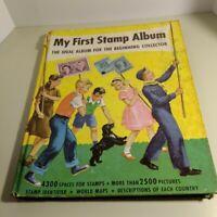 "1965 Collectible Vintage ""My First Stamp Album"" Hobbies Beginner -  US & Foreign"