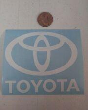 "TOYOTA Logo car decals, white. 4""x 3"""