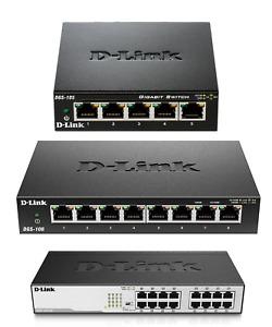 D-Link Gigabit Switch Netzwerk Verteiler LAN Hub - lüfterlos / Metallgehäuse