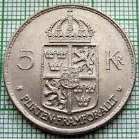 SWEDEN Gustaf VI Adolf 1972 5 KRONOR