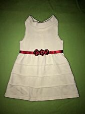 Janie & Jack off White Holiday Dress with Red Roses 12-18m Classy and Elegant
