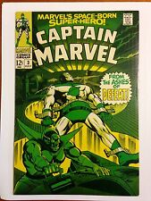 Final Offering-CAPTAIN  MARVEL #3 High Grade NM Gene Colan Marvel Comics 1968