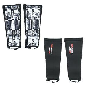 Rocktape Shin Protector Rock Guards Leg Sleeves, Cross Training, Biking, 2 Pack