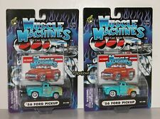 2 2001 Different Flame Variation Muscle Machines 1956 Ford Pickup 01-90 56 Truck