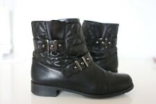 Stuart Weitzman Quilted Moto Boots Size 8